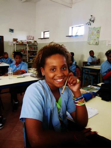 Kaapverdie Bohalista School meisje